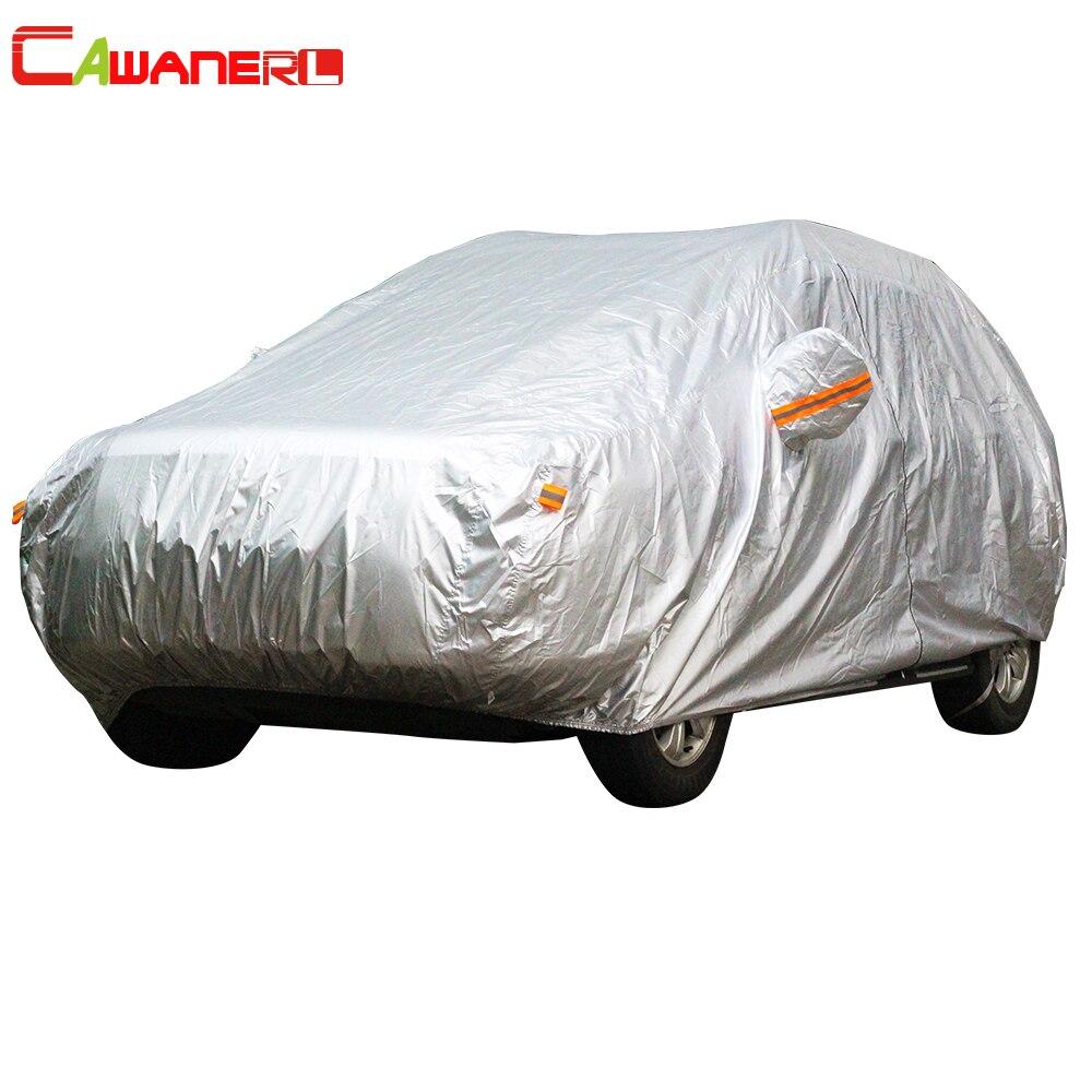 Cawanerl Auto Abdeckung SUV Auto Limousine Fließheck UV Anti Sonne Regen Snow Resistant Schutz Wasserdichte Abdeckung Alle Wetter Geeignet!