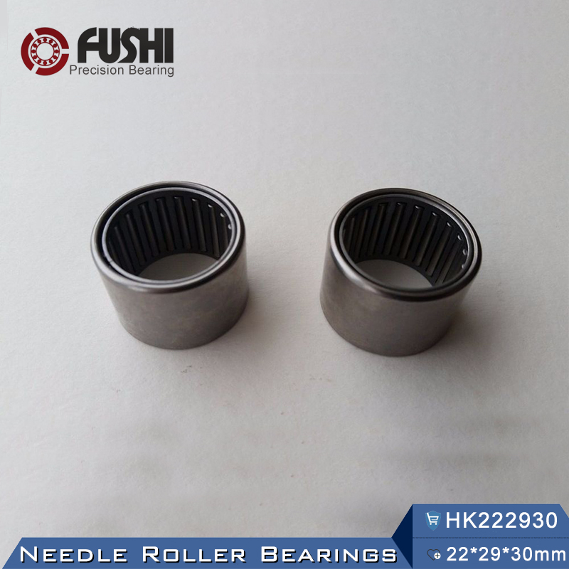 HK222930 Bearing Size 22 x 29 x 30 mm (2 Pcs) Drawn Cup Caged Needle Roller Bearings HK2230 With Open End 222930 chainsaw piston assy with rings needle bearing fit partner 350 craftsman poulan sm4018 220 260 pp220 husqvarna replacement parts
