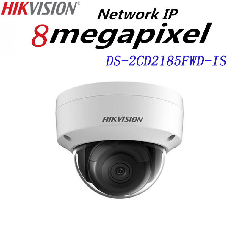 Hikvision English version DS-2CD2185FWD-IS 8MP Network mini dome security CCTV Camera audio POE SD card H.265+ IP camera dhl free shipping english version ds 2cd2785fwd izs 8mp wdr dome network ip cctv camera poe vari focal motorized lens h 265