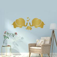 Baby Room Hearts Cute Elephant Family Wall Decals DIY Home Decorative Children Bedroom Sticker Art Mural