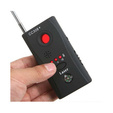CC308+ Wireless FNR Full-frequency Detector Radio Wave Signal Detect GSM Device Finder Laser Lens RF Signal Detector 1 pcs wireless signal rf detector tracer hidden camera finder ghost sensor 100 2400 mhz gsm alarm device radio frequency check