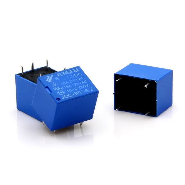 Free shipping 5pcslot JQC 3FF S Z T73 12VDC 5 feet 10A 5 Pins