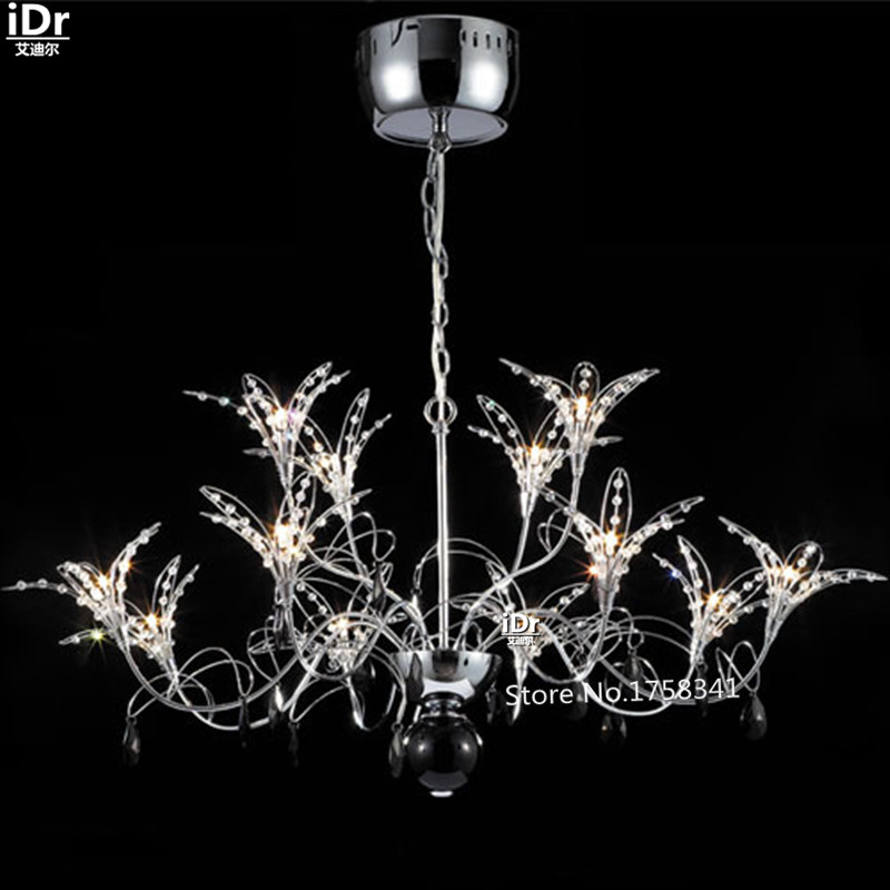 modern minimalist Bedroom lamp Hall living room lamps bedroom stylish luxury crystal lamp restaurant lily Chandeliers