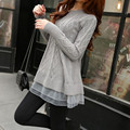 2016 Fashion  Autumn Women Slim Long Losse Casual Sweaters Ladies Fashion Knitted Sweater Long-sleeve Pullover C613