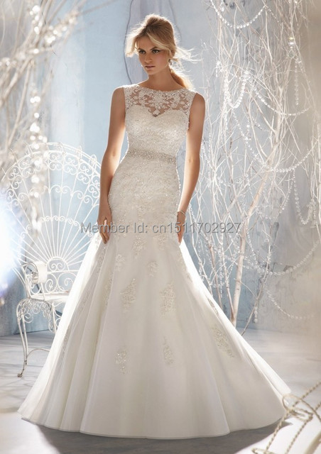 Aliexpress.com : Buy Elegant New 2014 Mermaid Bridal Dresses ...