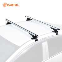 Partol Universal 120CM Car Roof Racks Cross Bars Crossbars 68kg 150LBS Work With Kayak Cargo Luggage