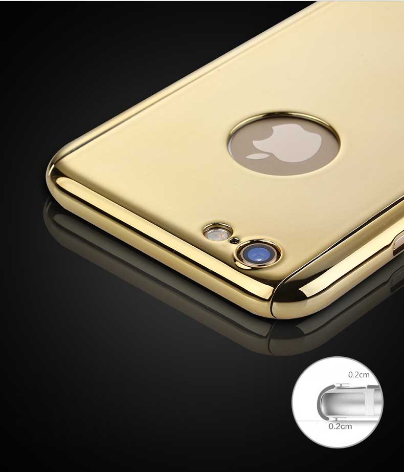 LIHNEL Luxury Mirror Reflection 360 Full Body Coverage PC Hard Shell Cover for iPhone X 5 5S SE 6 6S 6plus 7 7plus 8 8plus case