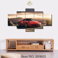 5 Pieces Set Abstract Colors Wall Art Paintings Picture Print On Canvas For Home Decoration Wall
