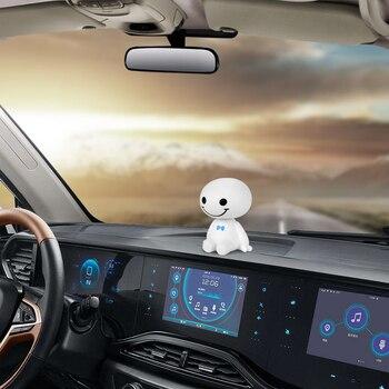 Car Ornament Cute Shaking Head Baymax Robot Doll Automotive Decoration Auto Interior Dashboard Bobble Head Toys Accessories Gift 1