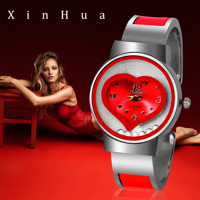 New XINHUA Bracelet Watch Women Luxury Brand Stainless Steel Quartz Thin Wrist Watches Ladies Fashion Bangle Feminio Relogio