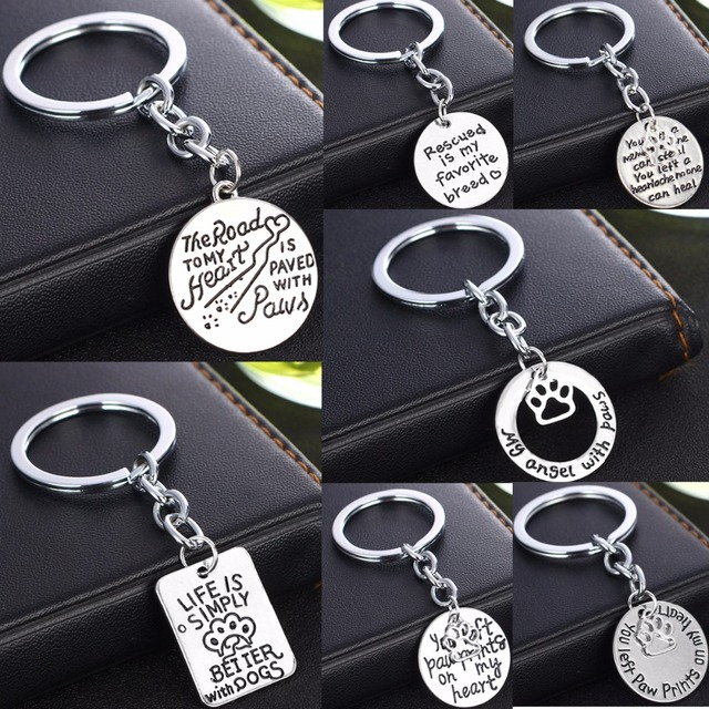 Hollow Pet Paws Claw Prints Charms Keychain Dog Cat Lovers Keyring Animals Memorial  Jewelry For Women Men Key Chain Keyfob Gifts 7ee106659