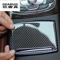 Car Gear Shift Panel Decorative Frame Cover Trim Chrome Stainless Steel Strip Interior Sequins 3D Sticker