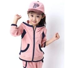 Осень / зима дети в одежда комплект девочка в милый спорт одежда подходит для 100 см до 150 см высота пальто и под брюки девочка в комплект