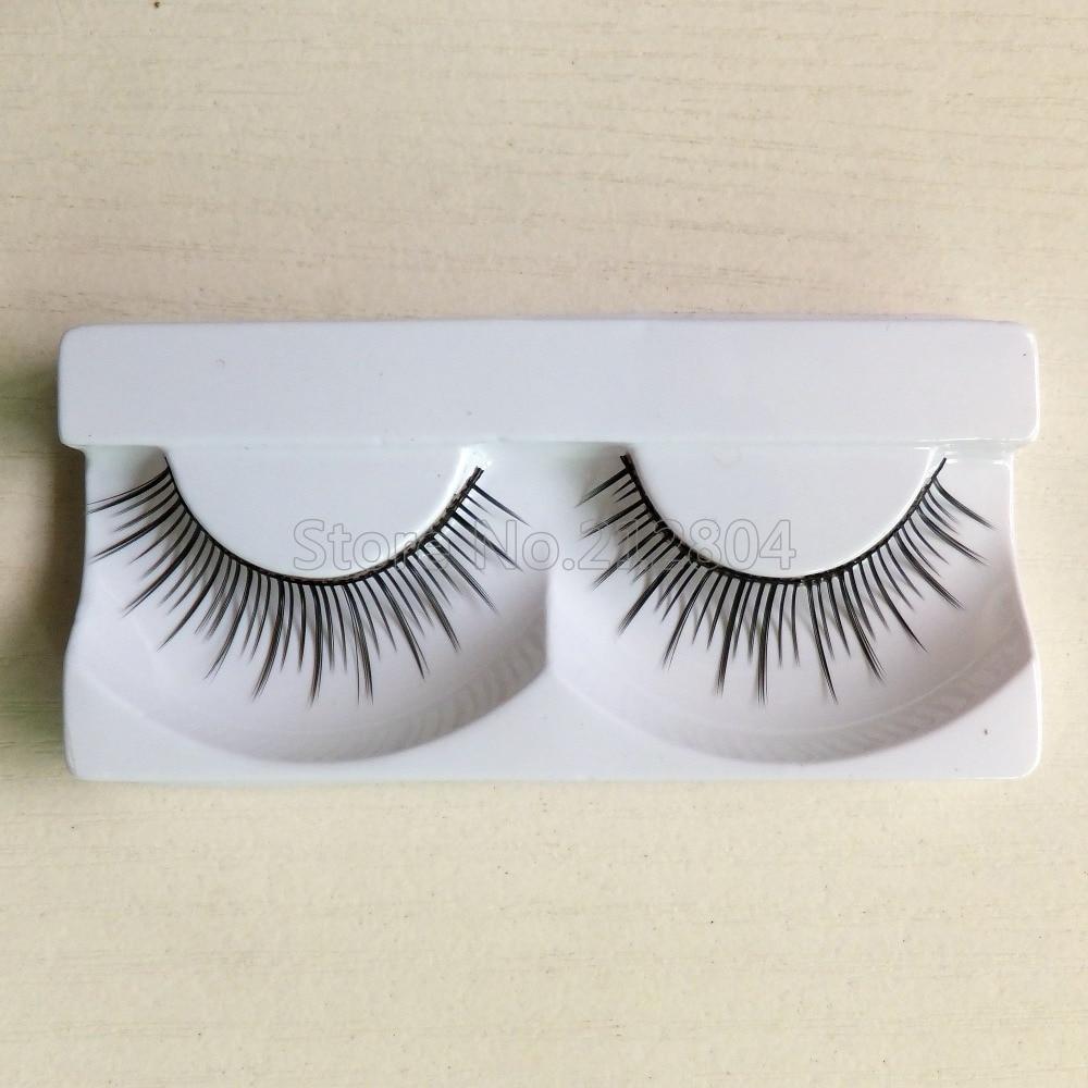 2016 New Fashion 1 Pair New Makeup False Eyelashes Soft Natural Cross Long Eye Lashes Extension