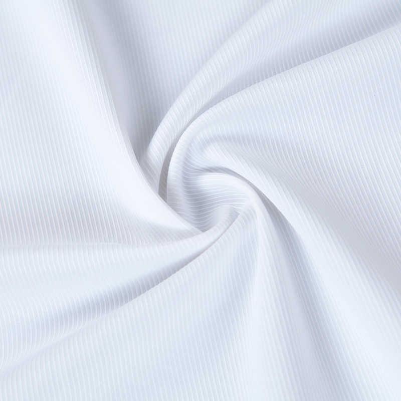 7XL プラスサイズ新 2018 シャツメンズブランド長袖ストライプツイルソーシャルワークドレスシャツ白青男性シャツ