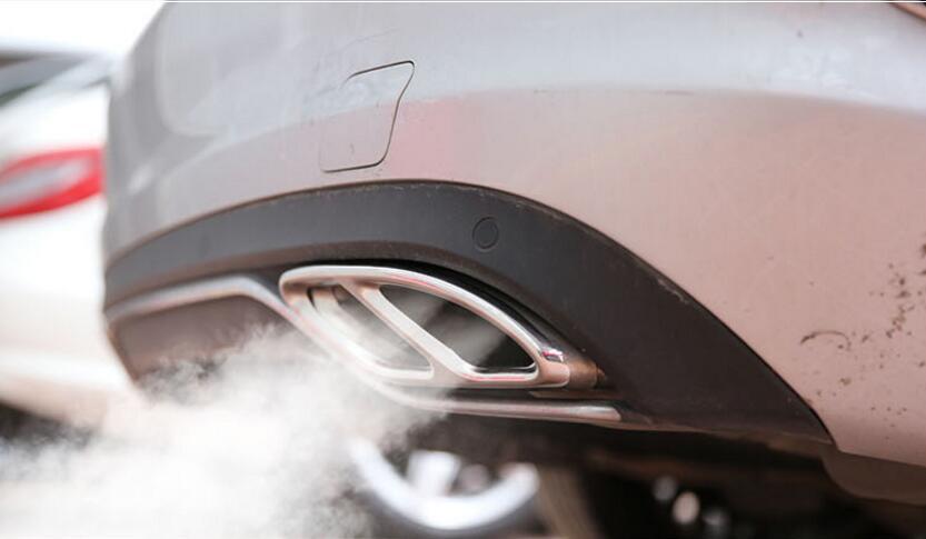 Capots de bordure de bâton de tuyau d'échappement arrière d'acier inoxydable pour Mercedes Benz classe B Facelift B180 B200 B220 B250 2015 2016