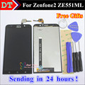 De alta calidad de la pantalla táctil y lcd display asamblea del digitizador para asus zenfone 2 ze551ml con marco o sin marco