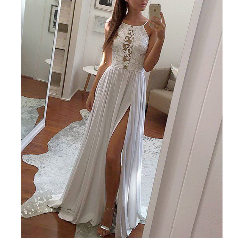 MUXU summer fashion lace dress women white long dress sexy womens clothing vestidos branco suspender dress kleider robe femme