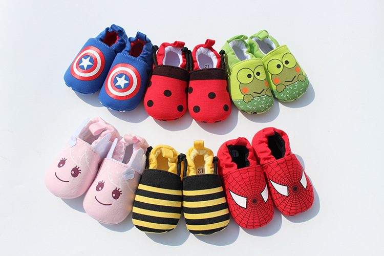 New 2016 Baby Newborn Shoes Anti Slip Kids Shoes Cartoon Prewalker Soft Bottom Bebe Infant Shoes First Walkers Fashion Shoes