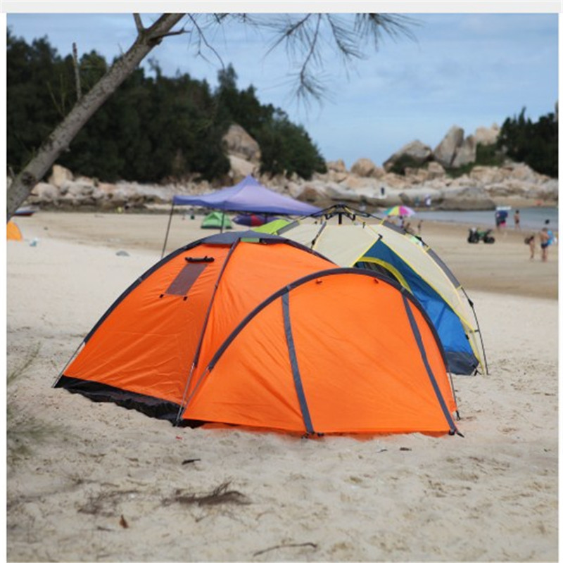 Quality Waterproof Double Layer 2 Person Outdoor Camping Tent Hiking Beach Tent outdoor waterproof folding ultralight camping tent 1 2 person double door fishing tourist tent beach tent hiking family tent