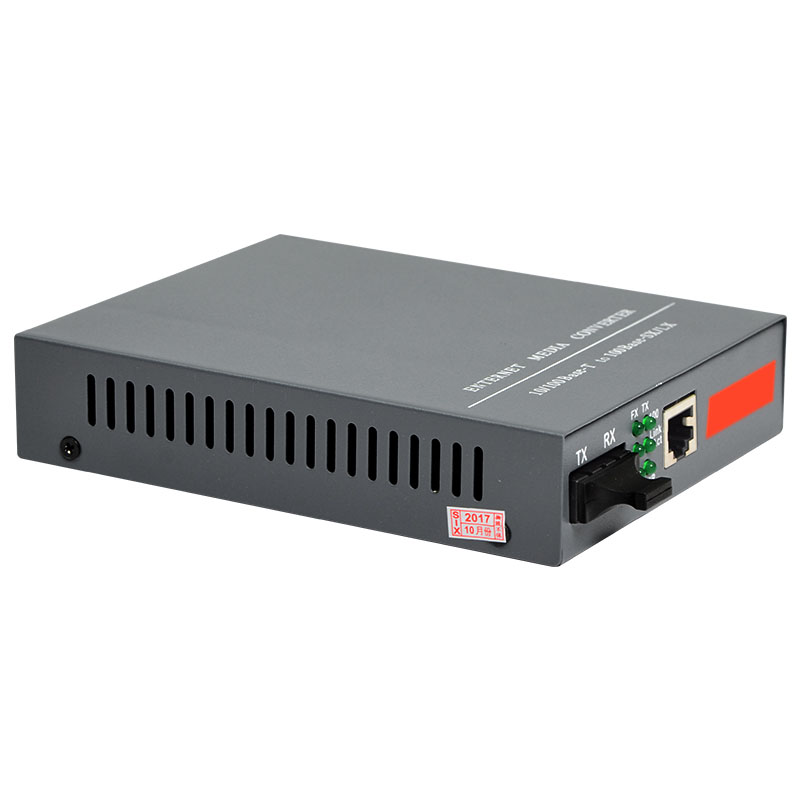 HTB-1100S Optical Media Converter 10/100Mbps RJ45 Singlemode Duplex Fiber SC Port 25KM, Built-in Power Supply