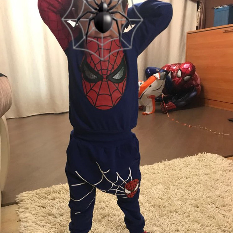 2019 Boys Clothes Tracksuit Spiderman 2st / set Passar Barnkläder - Barnkläder - Foto 4