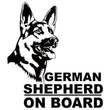 CS-825#16.6*15cm German Shepherd on board funny car sticker vinyl decal silver/black for auto stickers styling