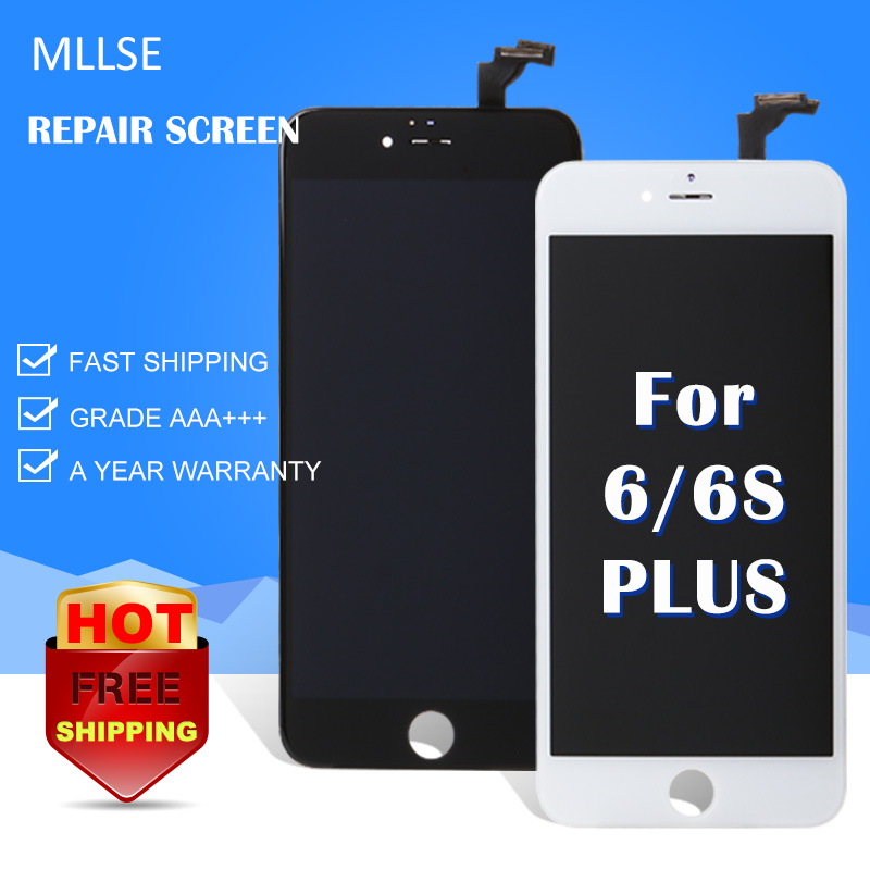 MLLSE For iphone 6s plus 5.5 Pantalla display 3D Touch Screen Replacement AAA NO Dead pixel with Digitizer Assembly ecran LCD
