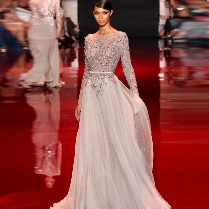 Silver Grey Evening Dress