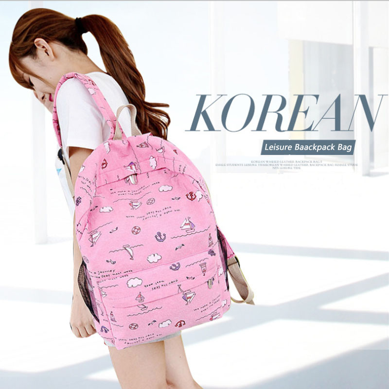 7090dc32035a KWD Canvas graffiti backpack Cloud Printing Bookbags for Teenager Girls  High School Students Casual Bag Chic Bagpack Purse Blue-in Backpacks from  Luggage ...