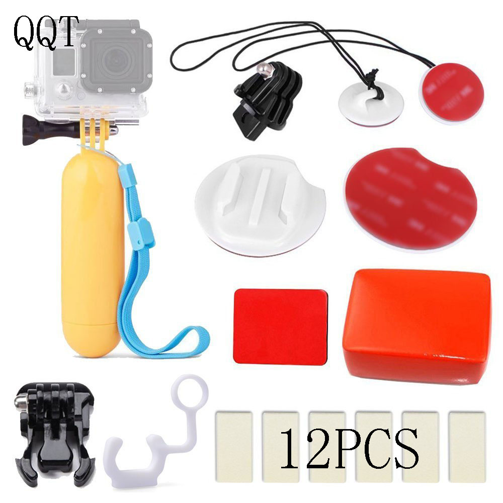 QQT for GoPro Surf Kit Kit Floaty Sponge Tripod Strap Anti-fog film For Go pro Hero 6 5 4 3 + 3 Sport Camera