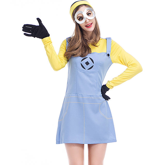 adult ladies despicable me 2 minions cosplay fancy dresses plus