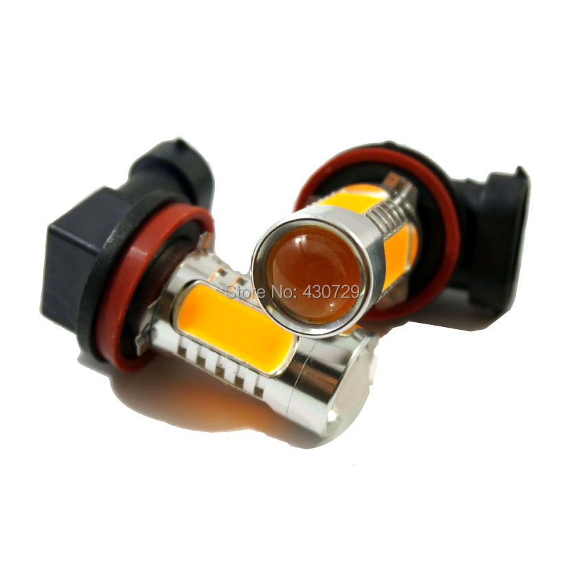 2pcs/lot Top quality High power 7.5W with Lens Buid-In Chip Car H11 - Car Lights - Photo 1
