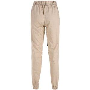 Image 4 - Sweetown רעיוני פס טלאים גותי מכנסיים מטען נשים Streetwear חדש הגעה 2019 גבוהה מותן מכנסיים עם Sashes