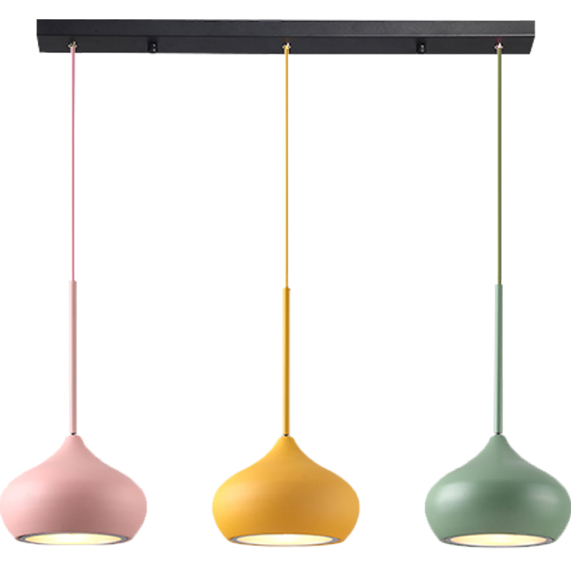 Toolery Creative design dining room pendant lights living room macarons colorful droplight iron 3 lamps combo LED Pendant lamps modern led colorful glass pendant lights lamps creative design toolery dining room living room bar g9 led bulb art decoration