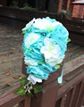 Tiffany Blue Wedding Bouquet Cheap Waterfall Artificial Wedding Flowers Bridal Boquets Roze Bridesmaid Bouquet Wrist Flower 2016