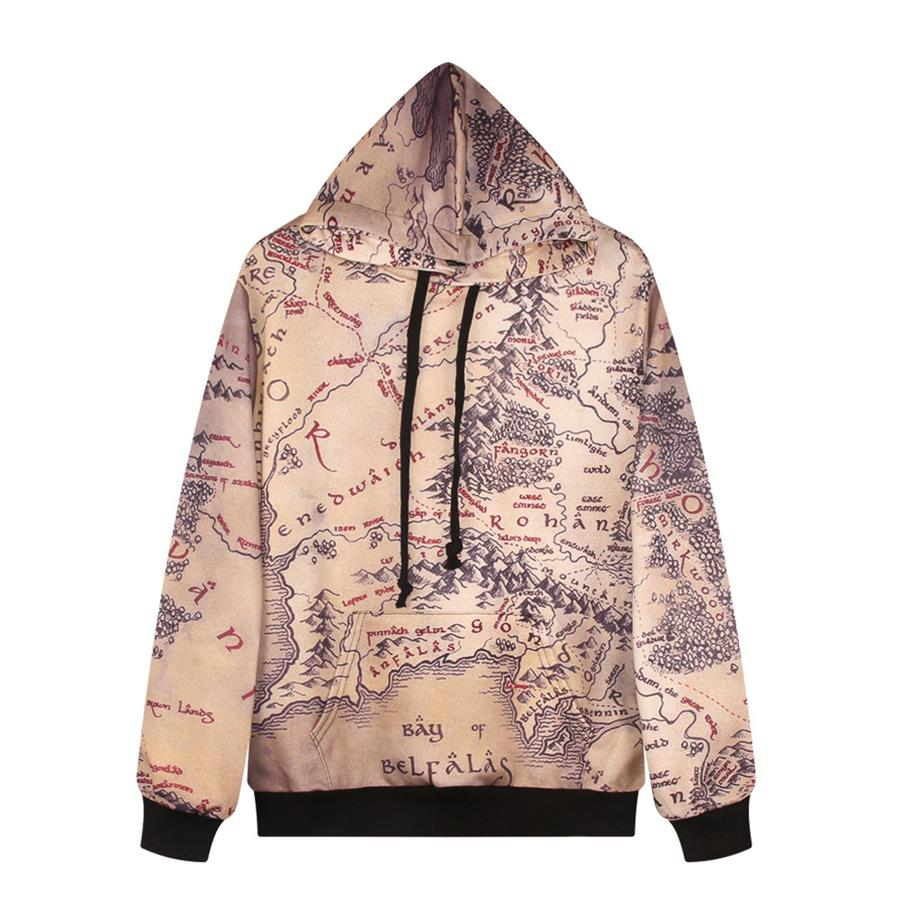 Fashion casual men women the lord of ring world map printed hoodie fashion casual men women the lord of ring world map printed hoodie women pullover tops suit hoodie outwear sweatshirt in hoodies sweatshirts from womens gumiabroncs Images