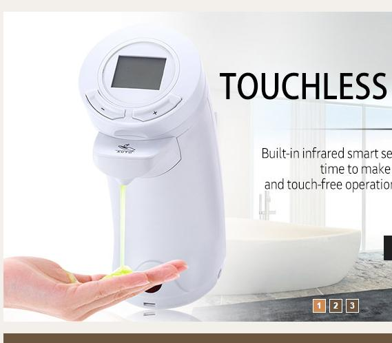 Ad 04 250ml Touchless Lcd Display Abs Automatic Soap