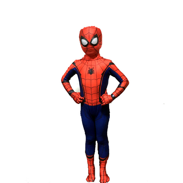 halloween costume spiderman homecoming costume for kids suit cosplay mask costumes boys girls new spider man cosplay children