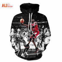 Alisister Fashion Jordan Hoodies Men 3d Print Painting Sweatshirt Designer Men's Sweatshirts Crewneck Men/women's Harajuku Hoody
