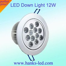 High power Best quality led down light  12w 20pcs/lot free shipping.