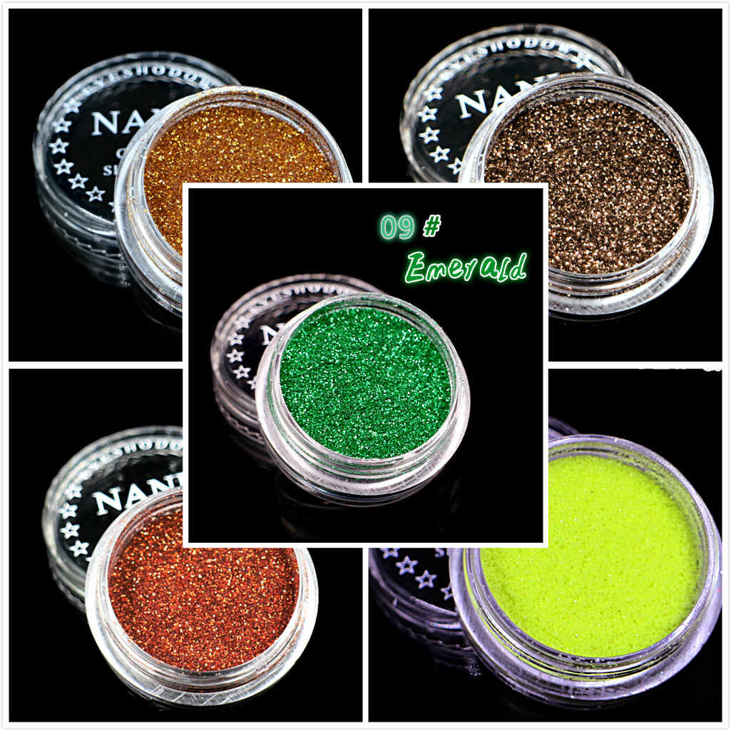 1 Box Emerald 23 Color Glitter Eyeshadow Powder Pigment Mineral Spangle Smooth Makeup Cosmetic Set Waterproof Long-lasting