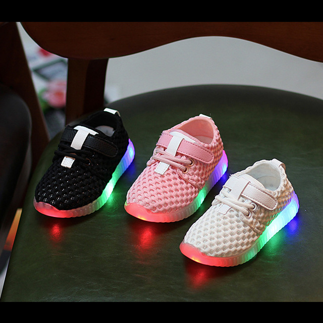 kids new fashion children shoes with led light up shoes luminous glowing sneakers toddler boys girls newborn baby sneakers