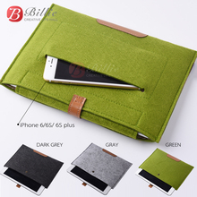 New Wool Felt For iPad air 5 6 liner sleeve high quality Notebook case For iPhone