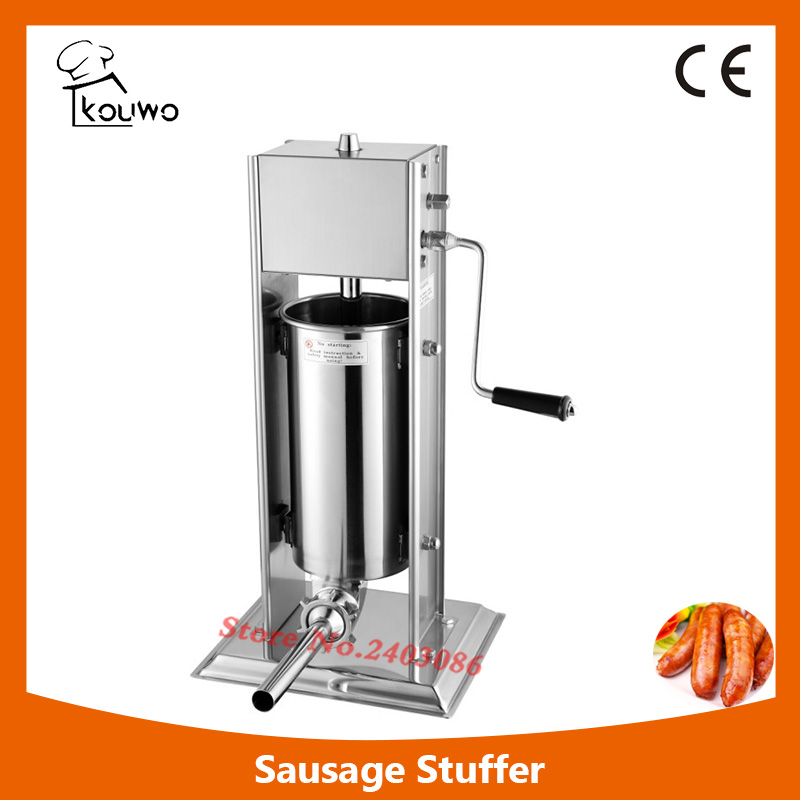 5L  vertical manual stainless steel sausage stuffer machine with different sausage funnel,sausage maker,sausage making machine 2l spanish manual stainless steel churro maker machine