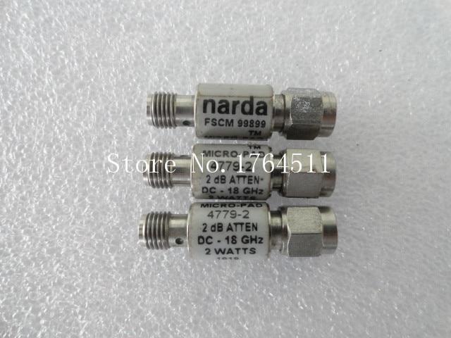 [BELLA] NARDA 4779-2 DC-18GHz 2dB 2W SMA RF Coaxial Fixed Attenuator