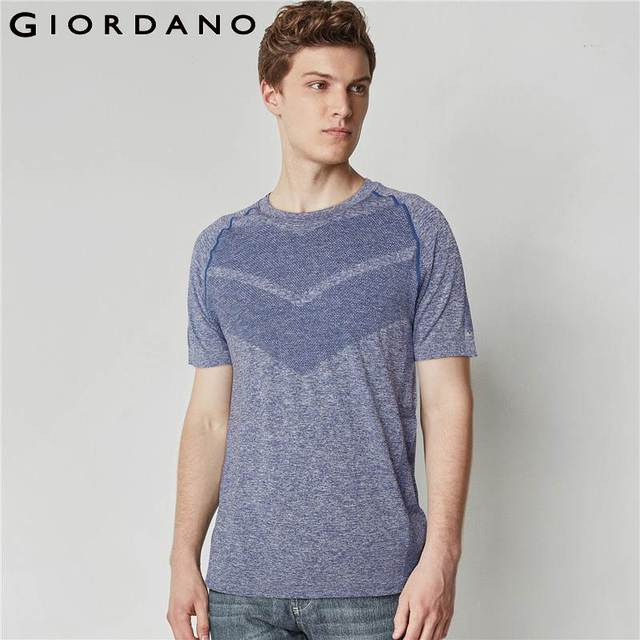 cedcc41a5f71 Giordano Men Tee COOLMAX Seamless Tshirt Short Sleeves Crewneck Tops Solid  Sporty Wear Mens Clothing Collection