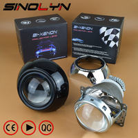 SINOLYN Automobiles Car Projector Lens For Headlight 3 0 Inch HID Bi Xenon Lamp W Black