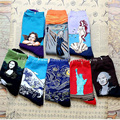 new Retro art cartoon painting Mona Lisa Star Angel in the tube thick winter men 's cotton gift box socks for autumn and winter