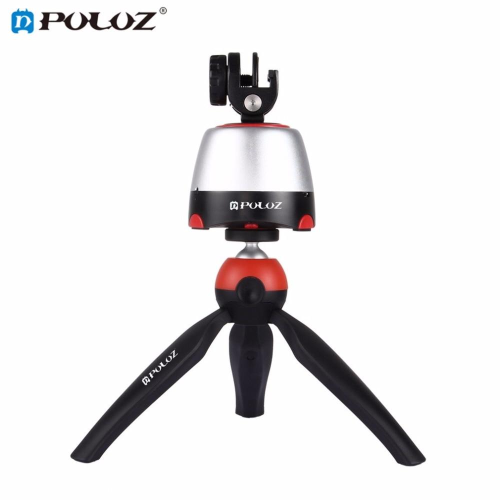 PULUZ accéléré 360 Degrés Rotation Automatique Caméra Trépied Tête 360 Degrés Rotation Panoramique Pan Tête Avec À Distance pour GoPro